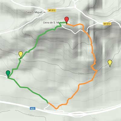 The Cerro de S. Miguel Route map