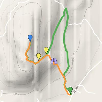 Mapa da Rota do Cerro da Cabeça